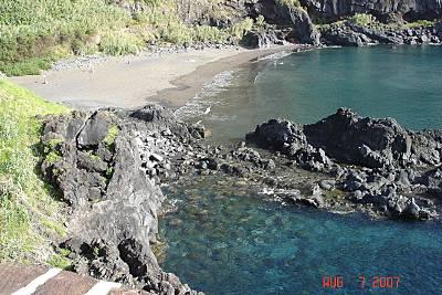 Lajes ou Calheta beach