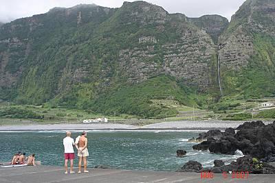 Fajã Grande beach