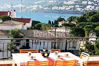Terraza vistas mar-montaña, a 170 m de la playa Girona/Gerona