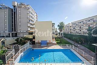 Apartamento de 2 habitaciones en 1a línea de playa Málaga