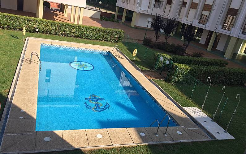 Apartment for rent only 50 meters from the beach suances for Residential swimming pool dimensions in meters