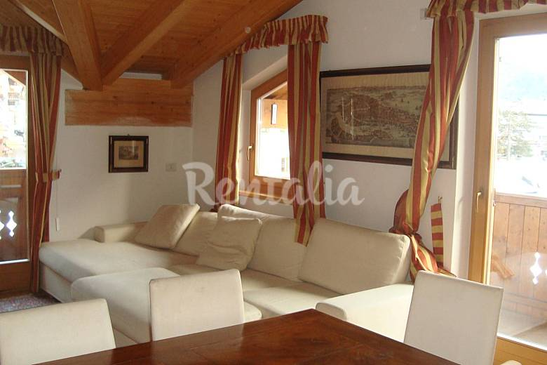 Apartment Living-room Trentino Canazei Apartment