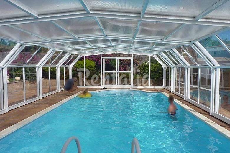 Casa con piscina cubierta a 200 m de la playa caamouco - Casa rural con piscina cubierta ...