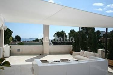 Prachtige luxe villa met prive zwembad siesta santa eulalia del r o ibiza - Buiten villa outs ...