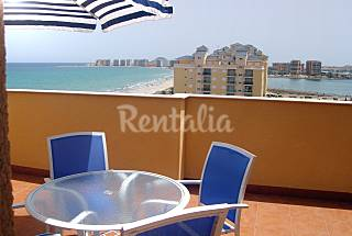 Luxury, double beach front Penthouse, wi-fi, golf Murcia