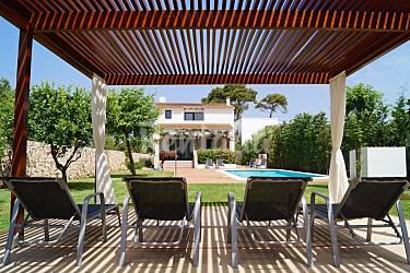 Villa para 8 personas cerca de la playa sa caleta caleta for Pergolas para piscinas