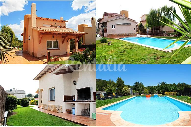 Chalet con wifi jardin piscina a 5 minutos playa for Casas vacacionales con piscina