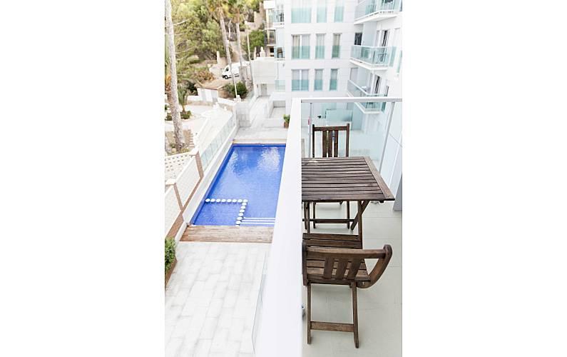 Appartement voor 2 4 personen op het strand benidorm alicante costa blanca for Terras strijkijzer