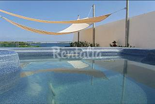 Penthouse with see views in development with pool Ibiza