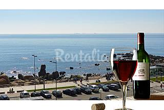 Luxury beach front apartment w/ superb sea view. Porto