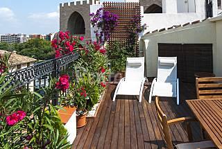 Terrace in the historic center of Valencia Valencia
