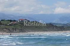 Dúplex  sobre playa de Meron Cantabria