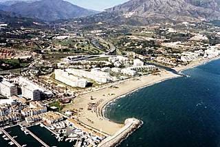 Dans le meilleur de Puerto Banus, Marbella. Malaga