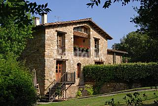 Typical Catalonian Farmhouse near Spanish Pyrenees Girona