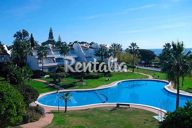 Duplex 3 habitaciones 1 l nea de playa lunamar for Piscina publica malaga