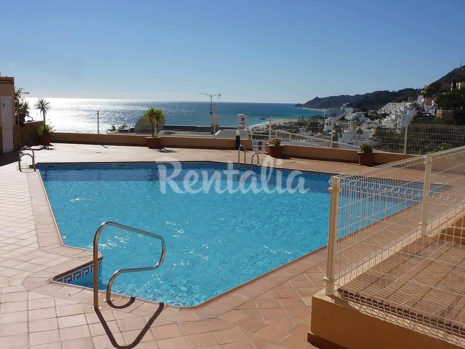 Alboroke ger con piscina y vistas al mar moj car playa for Piscinas almeria