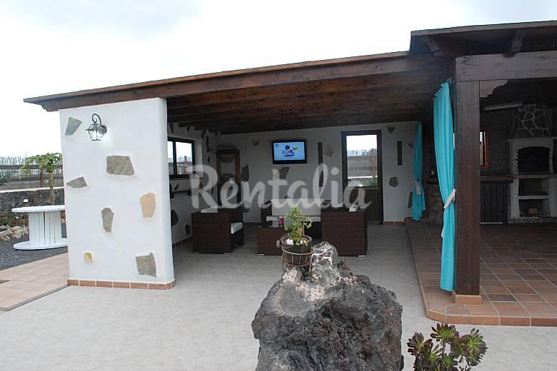 casa Terraza Fuerteventura La Oliva Villa en entorno rural