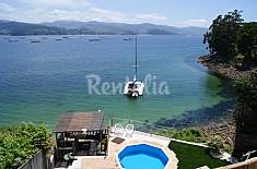 House for rent on the beach front line Pontevedra