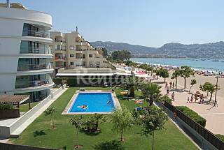 Apartment on the beach with sea view and pool Girona