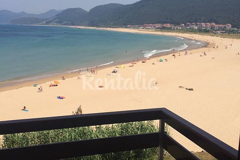 Apartamento en alquiler en 1a l nea de playa noja cantabria camino de santiago del norte - Apartamentos en cantabria playa ...