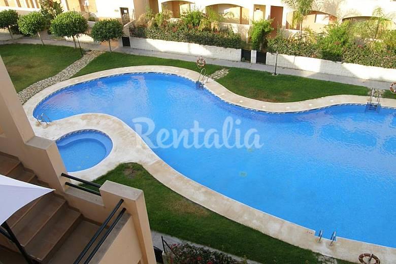 Tico con piscina privada en cala del marqu s vera playa for Atico con piscina privada