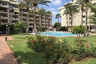 Apartamento para 6 personas en 1a línea de playa Málaga