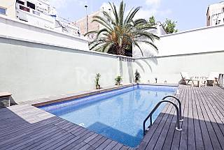 Private Terrace and Swimming Pool apartment  Barcelona