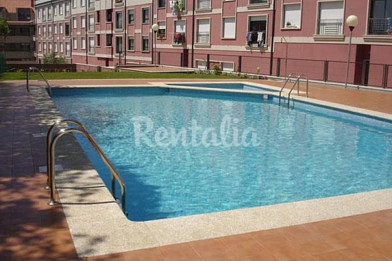 Apto en alquiler con piscina a 300 m de la playa portonovo sanxenxo sangenjo pontevedra - Piscinas en pontevedra ...