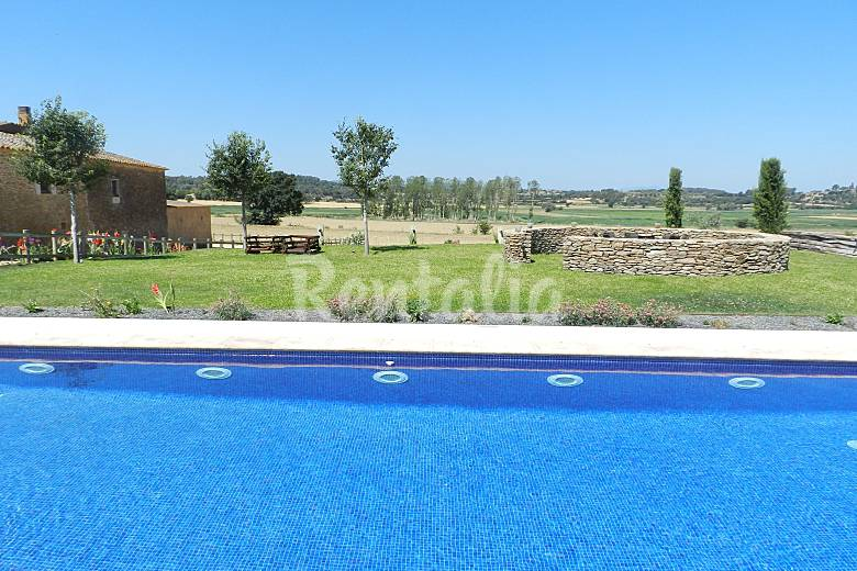 Villa Piscina Girona Ullastret Villa di campagna
