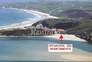 Apartment with 1 bedroom on the beach front line Cantabria
