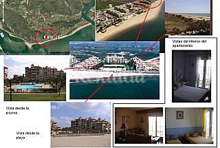 Apartamento para 4 personas en 1ª línea de playa Huelva