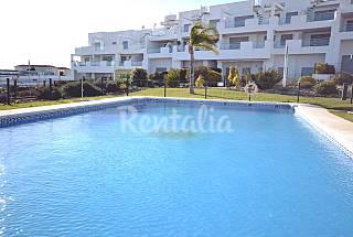 Terraza con vistas al mar y piscina comunitaria Cádiz