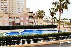 Apartamento para 5-8 personas en 1a línea de playa Murcia