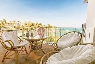 Apartamento frente al mar con gran terraza Girona/Gerona