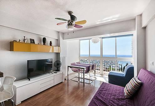 Apartamento com vista para o mar a 200 m da praia Alicante