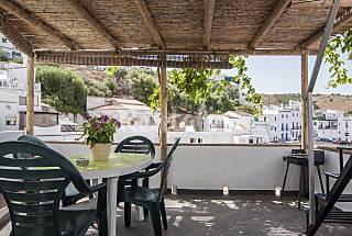 Maison traditionnelle andalouse avec magnifiques vues et piscine climatisée. Malaga