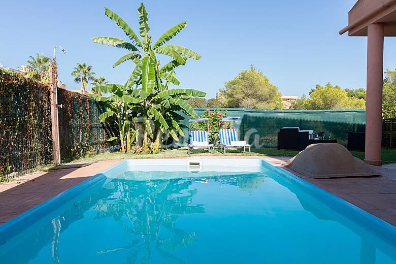 Can blau chalet con piscina platja d 39 alcudia alc dia - Banos arabes mallorca precio ...